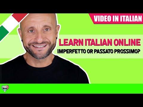 Improve Intermediate Italian Grammar IMPERFETTO or PASSATO PROSSIMO?: Learn Italian Online LIVE