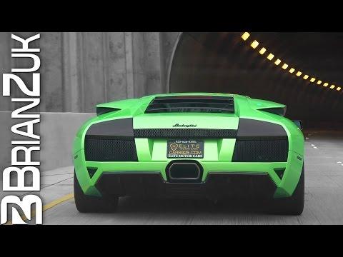 Tunnel - Lamborghini Murcielago LP640 with Straight Pipes
