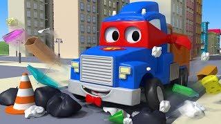 The Garbage Truck ! Carl the Super Truck in Car City   Children Cartoons