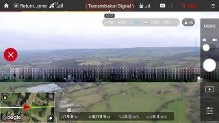 Dji phantom 3 professional max distance test 19100 feet 5.8 kilometres 3.6 miles with ARGtek ariel