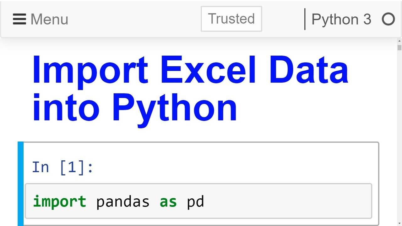 Import Excel Data File Into Python Pandas Read Excel File Youtube C read excel file into datatable with