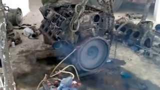 Démarrage d'un Moteur Deutz V8 diésel à Oran Algérie
