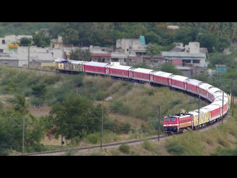 Breathtaking View of PREMIUM TRAIN on Horseshoe Curve : Indian Railways