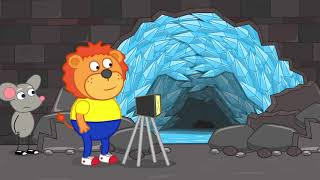 Lion Family   Pretend Playing Professions #4. Story About Professions   Cartoon for Kids