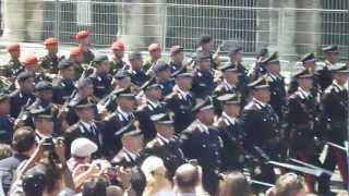 Carabinieri e Polizia : parata 2 Giugno 2012 : Festa della Repubblica Italiana a Roma