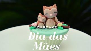 Cupcake decorado para o dia das Mães