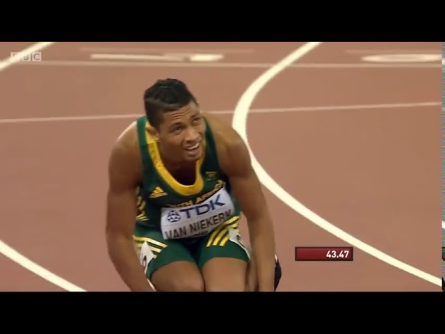 Wade Van Niekerk | 43.48 | 400m Men Final | IAAF World Championship Beijing 2015