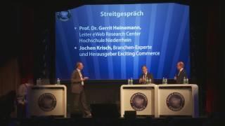 Streitgespräch zwischen Jochen Krisch und Gerrit Heinemann an der E-Commerce Connect Konferenz 2016