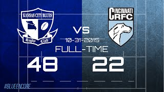 Kansas City Blues vs Cincinnati Wolfhounds Fall 2015 Highlights 2017 Video