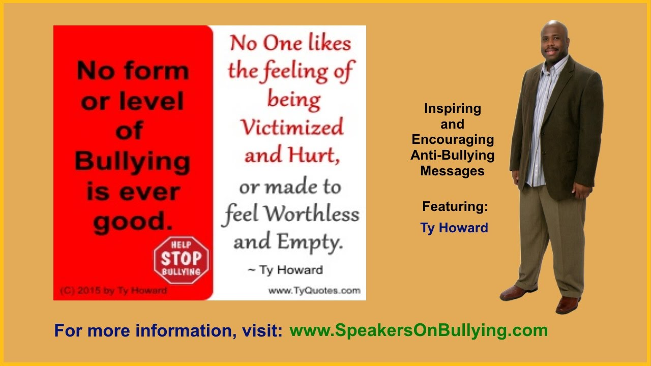 Anti Bully Quotes Inspiring And Encouraging Anti Bullying Quotes Graphic Messages