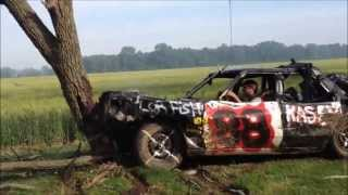 Derby car vs tree!!