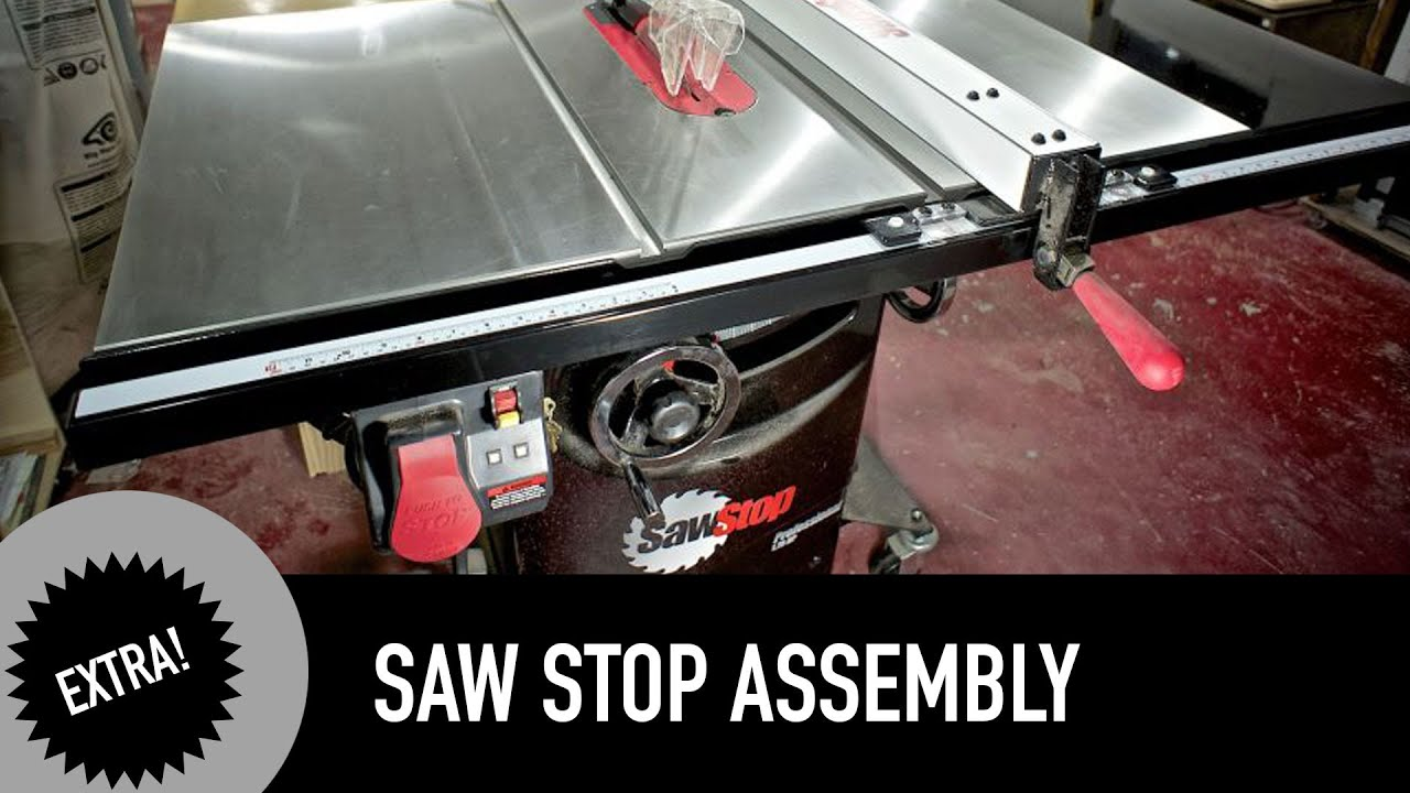 Sawstop Cabinet Table Saw Assembly Youtube