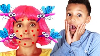 Kris and Mom vs mosquitoes in our house. Funny Video for Kids by Kris and Kira