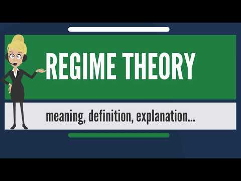 What is REGIME THEORY? What does REGIME THEORY mean? REGIME THEORY meaning & explanation