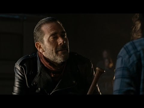 TWD S6E16 - Negan explains the severity of the situation, then jokes with killing Maggie