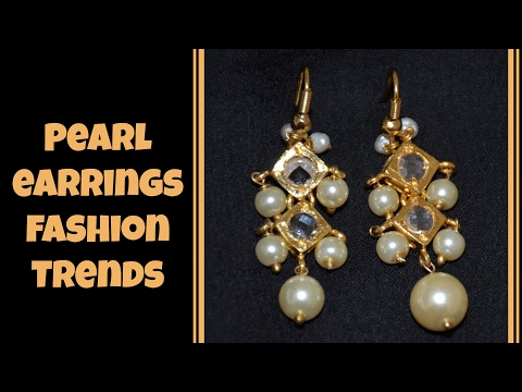 Fashionable Pearl Earrings Designs