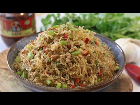 stir-fry-recipes---easy-glass-noodles-w/-ground-pork-(蚂蚁上树)