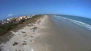 Cape Canaveral Harbor Heights Beach Flyover Aerial Video