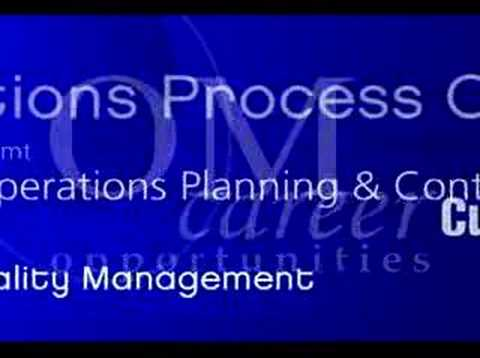 Operations Management Careers in Business