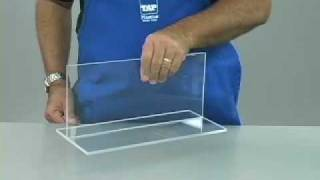 This video segment will show you the basics of gluing acrylic. The concepts shown here also apply to other plastics with gluing ...