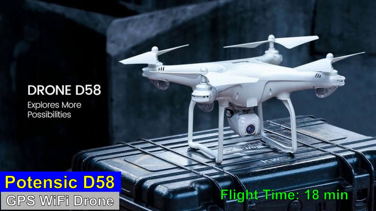 Download Potensic D58 WiFi GPS Drone – Just Released !