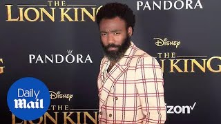 Donald Glover rocks the 'Lion King' red carpet in stylish suit