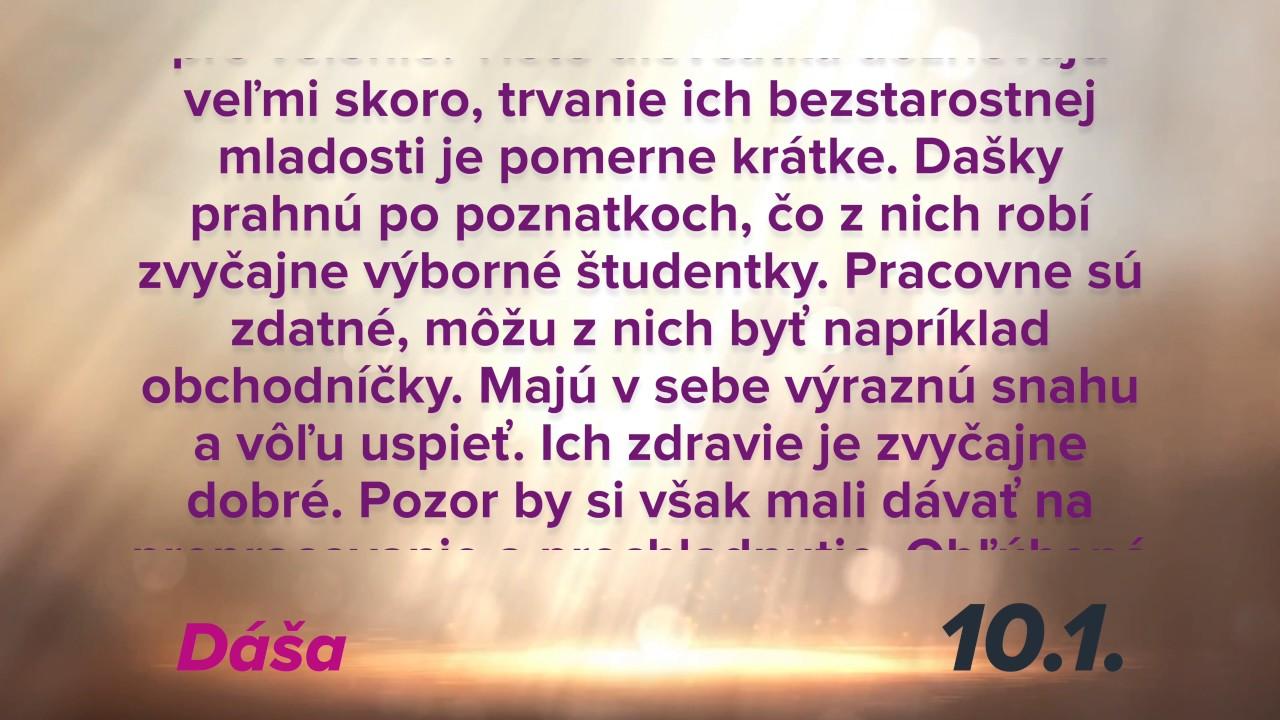 Dňa 10.1. oslavuje meniny DÁŠA plus význam mena v 4K - YouTube ceb379d4cbc