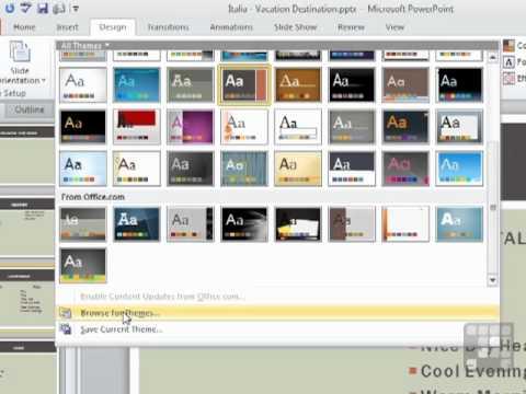 powerpoint 2010 designs