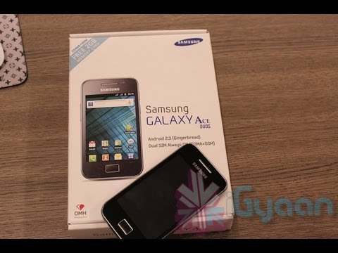 Samsung Galaxy Ace Duos i589 Unboxing and Quick Review - Dual Sim - iGyaan