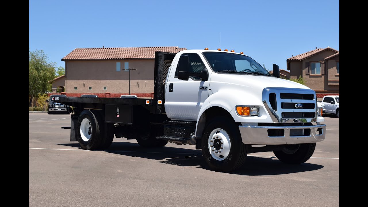 Ford F750 Super Duty >> 2015 Ford F-750 Flatbed Walkaround - YouTube