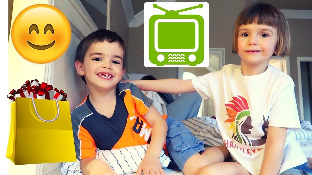 neuer fernseher und die kinder freuen sich ber ein weiteres fanpaket vlog. Black Bedroom Furniture Sets. Home Design Ideas