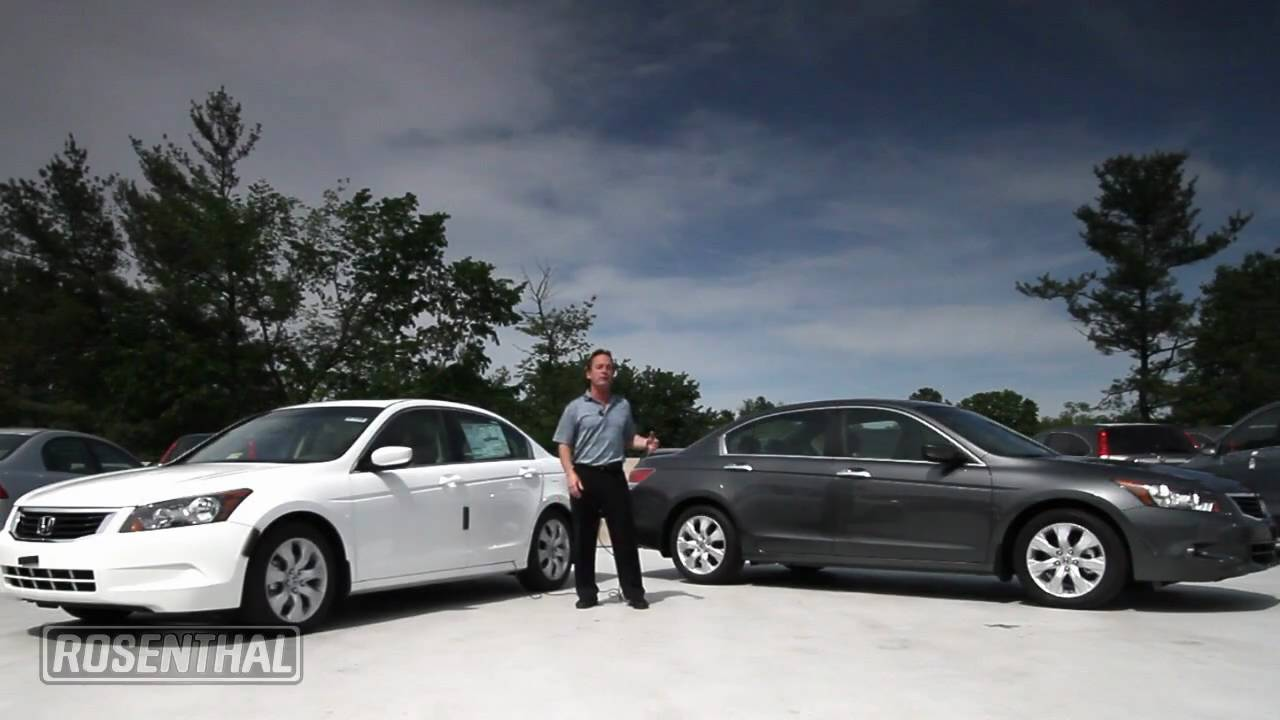2008 Honda Accord V6 >> 2010 Honda Accord v6 vs 4-Cylinder - YouTube