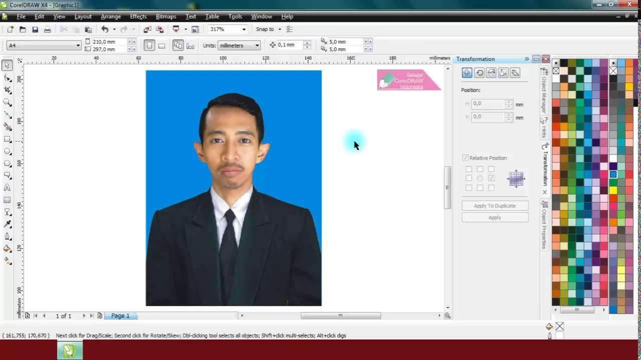 Cara Mengganti Background Foto Formal di CorelDRAW ...