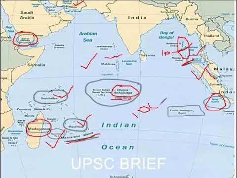 """INDIAN OCEAN REGION map "" for UPSC; SSC"
