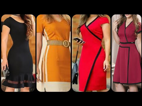 Gorgeous new Fashion new trend college girls casual wear dress designs shift dress collection 2019