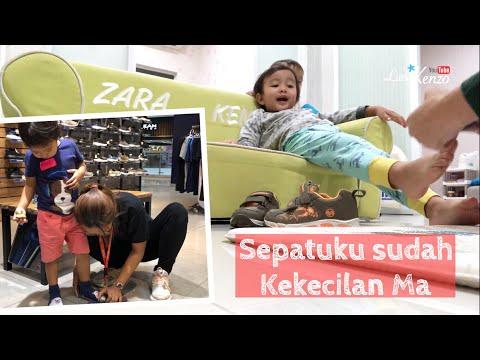 Little Kenzo Beli Sepatu Baru | Kakak Zara Cute Beli Sendal | Let's Go Shopping