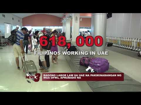 BAGONG LABOR LAW SA UAE NA PAKIKINABANGAN NG MGA OFWs, APRUBADO NA