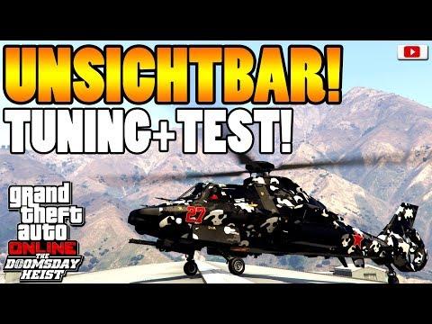 🚁🛠Heftiger Tarn Helikopter AKULA! Tuning + Test!🛠🚁 [GTA 5 Online Doomsday Heist Update DLC]