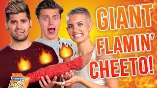 GIANT HOT CHEETO CHALLENGE?! w/ Lisa Cimorelli, Rajiv Dhall & Brian Redmon!