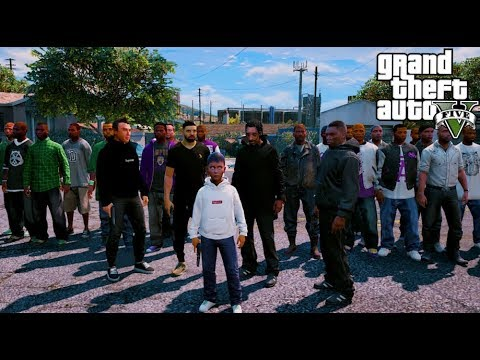 GTA 5 VITA REALE DA BAMBINO #121 - ENTRO IN UNA GANG CON DRAKE, SNOOP DOGG, 50 CENT & FEDEZ!!