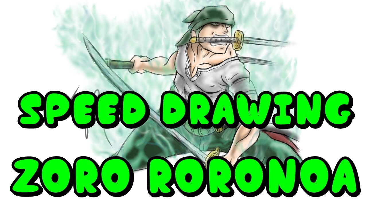 SPEED DRAWING - ZORO RORONOA #DRAWING #ONEPIECE