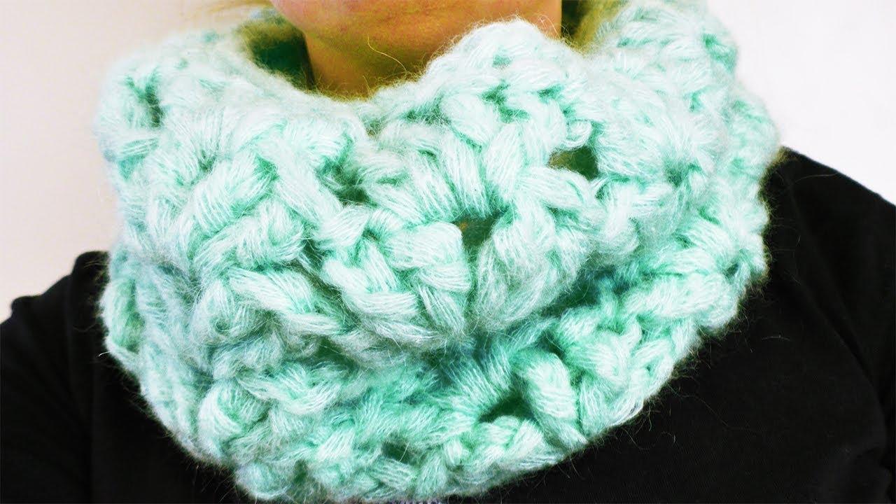 Schal Häkeln | Schneller Loop Schal im Muschel Muster | Einfach ...