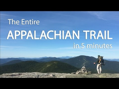 The Entire Appalachian Trail in 5 Minutes