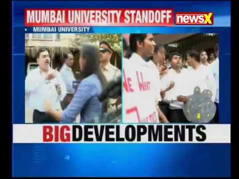 Mumbai University students have locked down examination Centre