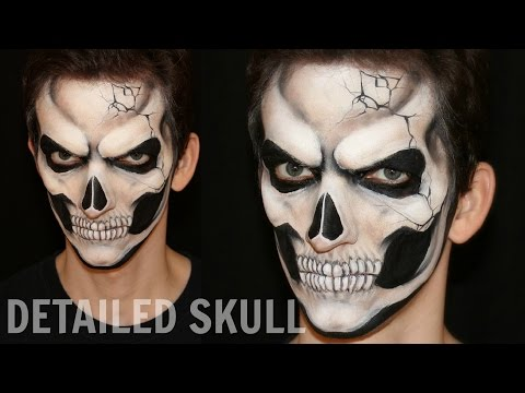 Realistic Skull — Halloween Makeup and Face Painting Tutorial