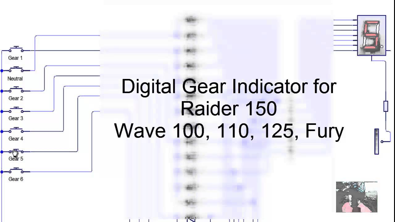 Digital Gear Indicator To Raider 150 Fury Honda 100110125 Youtube Wiring Diagram
