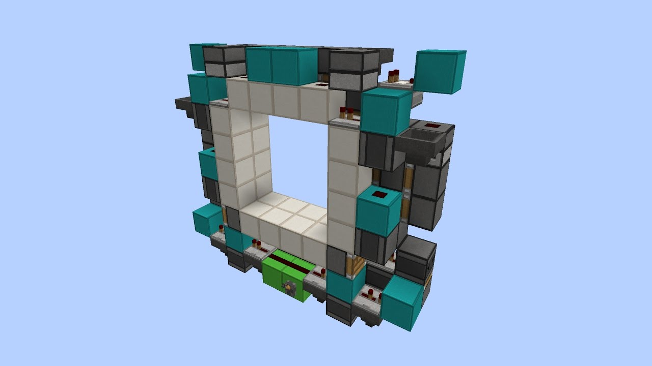 Tiny Fast and Super Sync 4x4 Piston Door for 1.11+! Tutorial! [180 Blocks!]