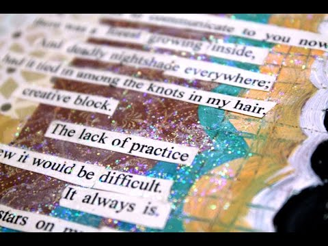 Art Journal Page - Found Poetry