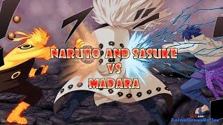 Jinchuuriki Madara vs Sage of Six Paths Naruto and Sasuke Full Fight - Naruto Shippuden Revolution