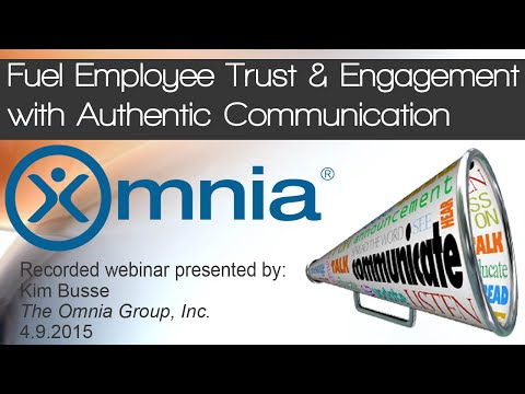Fuel Employee Trust and Engagement with Authentic Communication